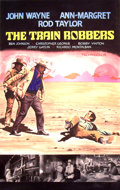 Mainstream Illustration, Lomasney, John J. (1899-1989). The Train Robbers, 1973.Mixed media on artboard. 44 x 28 in.. Benefiting Lifebeat...