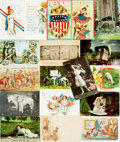 Miscellaneous:Postcards, [Post Cards]. Group of Eighteen Assorted Post Cards, Some With aPatriotic Theme. Various publishers, Ca. 1904-1913. Most ...