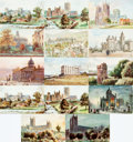 "Miscellaneous:Postcards, [Post Cards]. Group of Fourteen ""Oilette"" Post Cards DepictingBritish Landmarks. Raphael Tuck & Sons, Ca. 1905-1910.Measur..."