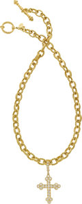 Estate Jewelry:Necklaces, Cynthia Bach Diamond, Gold Pendant-Necklace. ...