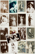 Miscellaneous:Postcards, [Post Cards]. Group of Seventeen Post Cards Featuring Early 20thCentury Celebrity Portraits. Various publishers, Ca. 1906-1...