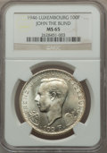 Luxembourg, Luxembourg: Charlotte 100 Francs 1946 MS65 NGC,...