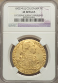 Colombia, Colombia: Charles IV gold 8 Escudos 1802 NR-JJ XF Details(Excessive Surface Hairlines) NGC,...