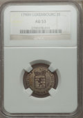 Luxembourg, Luxembourg: Leopold II 3 Sols 1790-H AU53 NGC,...