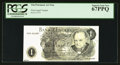 Miscellaneous:Other, Tim Prusmack Money Art Bank of England £1 Churchill Note PCGSSuperb Gem New 67PPQ.. ...