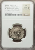 Ancients:Roman Provincial , Ancients: SYRIA. Antioch. Macrinus (AD 217-218). Billon tetradrachm(14.88 gm)....