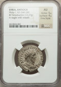 Ancients:Roman Provincial , Ancients: SYRIA. Antioch. Philip I (AD 244-249). Billon tetradrachm(13.27 gm)....