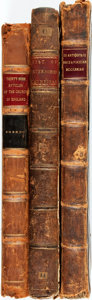Books:Religion & Theology, [Church of England]. Group of Three Books on the History of the British Church. Various publishers, 1605 - 1699. Contemporar... (Total: 3 Items)