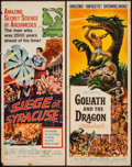 "Movie Posters:Adventure, Goliath and the Dragon & Other Lot (American International,1960). Inserts (2) (14"" X 36""). Adventure.. ... (Total: 2 Items)"