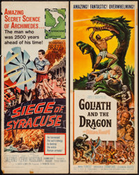 """Goliath and the Dragon & Other Lot (American International, 1960). Inserts (2) (14"""" X 36""""). Adventure..."""