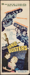 """Movie Posters:Crime, Gang Busters (Visual Drama, Inc., 1954). Insert (14"""" X 36""""). Crime.. ..."""