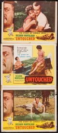 """Movie Posters:Adventure, Untouched (Excelsior, 1956). Title Lobby Card (11"""" X 14""""), LobbyCards (4) (11"""" X 14""""), & Trimmed Lobby Card (10.5"""" X 14""""). ...(Total: 6 Items)"""