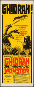 "Movie Posters:Science Fiction, Ghidrah, the Three-Headed Monster (Continental, 1965). Insert (14""X 36""). Science Fiction.. ..."