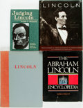 Books:Americana & American History, [Abraham Lincoln]. Group of Four Books about Abraham Lincoln.Various publishers and dates. Includes two first editions, one...(Total: 4 Items)
