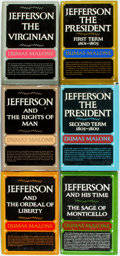 Books:Americana & American History, [Thomas Jefferson]. Dumas Malone. Jefferson and his Time, Vols.I-VI. Boston: Little, Brown and Company, [1948-1... (Total: 6Items)