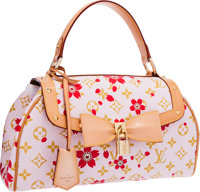 Louis Vuitton Limited Edition Pink Canvas Cherry Blossom Sac Retro Bag by Takashi Murakami Very Good to Excelle