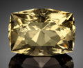 Gems:Faceted, RARE GEMSTONE: YELLOW FLUORITE - 67.5 CT.. Elmwood Mine,Carthage, Central Tennessee Ba-F-Pb-Zn District, Smith Co.,Tenn...