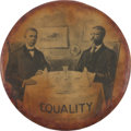 Political:Pinback Buttons (1896-present), Theodore Roosevelt: Real Photo Equality Pin....