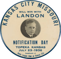 Alf Landon: Kansas City-related Notification Button