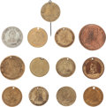 Political:Tokens & Medals, William Henry Harrison: Thirteen Campaign Tokens....