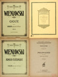 Books:Music & Sheet Music, [Sheet Music]. Group of Four Sets of Sheet Music by HenrykWieniawski. Various Publishers and dates. Publisher's printedwra... (Total: 4 Items)