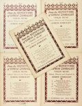 Books:Music & Sheet Music, [Sheet Music]. Group of Five Sets of Sheet Music by Efrem Zimbalist. New York: G. Schirmer, [1918, 1925]. Publisher's printe... (Total: 5 Items)