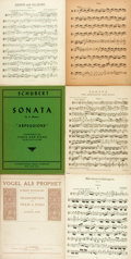 Books:Music & Sheet Music, [Sheet Music]. Group of Six Sets of Sheet Music by Schubert and Schumann. Various publishers and dates. Publisher's printed ... (Total: 6 Items)