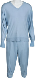 Golf Collectibles:Miscellaneous, 1986 Gene Sarazen Baby Blue Golf Outfit From Photo Shoot With Sam Snead....