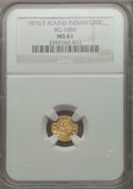 California Fractional Gold: , 1876/5 50C Indian Round 50 Cents, BG-1059, R.4, MS61 NGC. NGCCensus: (3/5). PCGS Population (15/54). ...