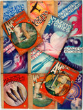 Books:Pulps, [Pulps]. Twelve Issues of Amazing Stories. [1933, 1934].Some covers and spines tattered. Some spines reinfo... (Total: 12Items)