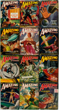 Books:Pulps, [Pulps]. Twelve Issues of Amazing Stories. [1951]. Some minor toning and chipping, else very good. . ... (Total: 12 Items)