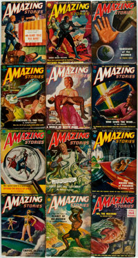 [Pulps]. Twelve Issues of Amazing Stories. [1951]. Some minor toning and