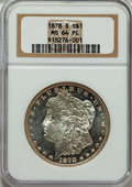 Morgan Dollars: , 1878-S $1 MS64 Prooflike NGC. NGC Census: (703/221). PCGS Population (466/141). Numismedia Wsl. Price for problem free NGC...