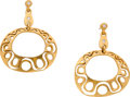 Estate Jewelry:Earrings, Linda Lee Johnson Diamond, Gold Earrings. ...