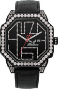 "Estate Jewelry:Watches, Haimov Unisex Diamond, Stainless Steel ""HM3"" Watch. ..."