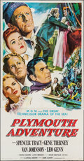 "Movie Posters:Adventure, Plymouth Adventure (MGM, 1952). Three Sheet (41"" X 79"").Adventure.. ..."