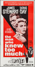 """Movie Posters:Hitchcock, The Man Who Knew Too Much (Paramount, R-1963). Three Sheet (41"""" X78""""). Hitchcock.. ..."""