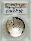 Baseball Collectibles:Others, 2014 Wade Boggs Signed Baseball Hall of Fame Silver Dollar PCGSPR70DCAM Coin. ...