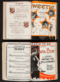 Paramount Sheet Music Collection (Famous Music Corporation, 1929 & 1930). Hard Bound Binders (2) (Multiple Pages, 9...