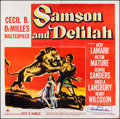 "Movie Posters:Adventure, Samson and Delilah (Paramount, 1949). Six Sheet (78"" X 79"").Adventure.. ..."