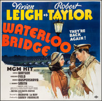 "Waterloo Bridge (MGM, R-1944). Six Sheet (78.5"" X 80""). Romance"