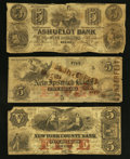 Obsoletes By State:New Hampshire, Keene, NH - Ashuelot Bank $5 June 1, 1852. New Ipswich, NH - New Ipswich Bank $5 Dec. 15, 1863. New York, NY - New Yor... (Total: 3 notes)