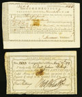 Colonial Notes:Connecticut, Connecticut Treasury Loan Certificate £35 May 2, 1783 AndersonCT-25 VF, CC. Connecticut Comptroller Receipt 5 Shillings Augus...(Total: 2 notes)