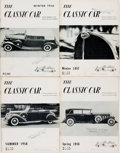 Books:Periodicals, [Automobiles]. Group of Four Issues of The Classic Car. NewYork: Classic Car Club, 1956-1958. Publisher's bindings ...