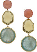 Estate Jewelry:Earrings, Ippolita Multi-Stone, Gold Earrings. ...