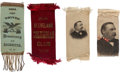 Political:Ribbons & Badges, Grover Cleveland: Four Ribbons....