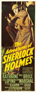 "Movie Posters:Mystery, The Adventures of Sherlock Holmes (20th Century Fox, 1939). Insert (14"" X 36"").. ..."