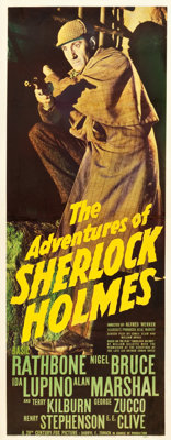 "The Adventures of Sherlock Holmes (20th Century Fox, 1939). Insert (14"" X 36"")"
