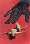 Mainstream Illustration, LU KIMMEL (American, 1905-1973). The Corpse With Sticky Fingers,paperback cover, 1952. Oil on board. 23.875 x 16 in. (s...(Total: 2 Items)