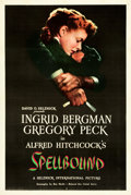 "Movie Posters:Hitchcock, Spellbound (United Artists, 1945). One Sheet (27"" X 41"").. ..."